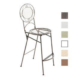 Clp Chaise De Bar Pliable Nadia Chaise Haute De Jardin En Metal Hauteur Assise 72 Cm Meuble De Terrasse Pour Usa Chaise Bar Tabouret De Bar Meuble Terrasse