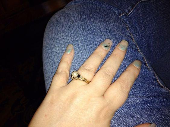 My Wedding Nails (Jan 2014) - Nails by Chana