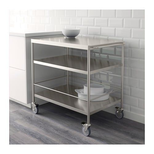 Flytta Kitchen Cart Stainless Steel 38 5 8x22 1 2 キッチン