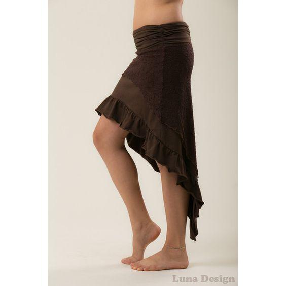 Elven Skirt Summer Skirt Burning Man Skirt Boom Festival Skirt Women... (77 AUD) ❤ liked on Polyvore featuring black, skirts and women's clothing