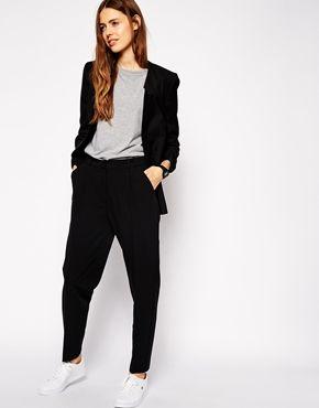 Pantalones con pernera recta y talle alto de ASOS