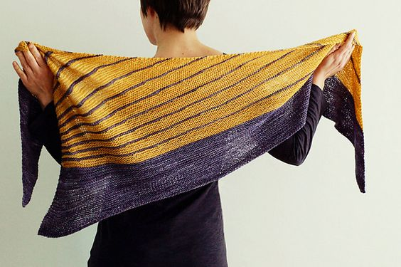 Different Lines shawl by Veera Valimaki (another take on the Stripe Study Shawl).