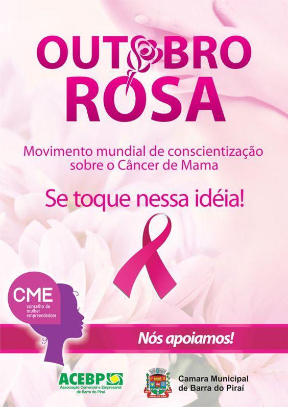 Outubro Rosa, mês da luta mundial contra o Câncer de Mama
