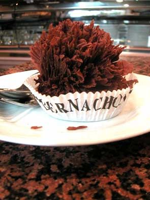 Bernachon's signature Le President cake (Lyon, France).  I don't usually like chocolate cake/tarts, but this was divine.