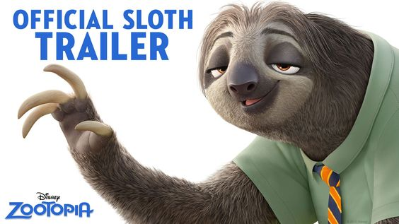 Zootopia Official US Sloth Trailer 預告 #1