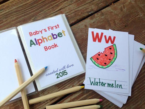 DIY Alphabet Book. Baby Shower Activity Game. by ChipperStudios