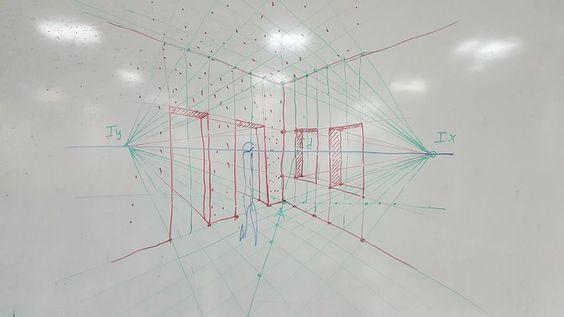 لوحة 2: معالجة رقمية لمنظور بزاوية- digital retouching of a two-point perspective: