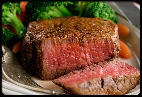 Say Hello to High-Protein Beef Nothing says protein like a nice juicy steak. And if you choose a lean cut, you will get all of the protein with far less fat. In fact, a lean cut of beef like a top round steak has barely more saturated fat than a similar-sized skinless chicken breast. http://weightlosspro.funpic.org/