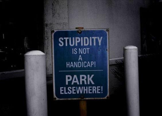 La stupidità non è una forma di disabilità. Parcheggia da un'altra parte! (foto)