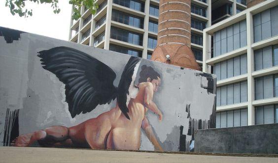 Black-winged angel by manumanu in BCN