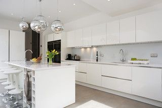High gloss lacquer white kitchen modern kitchen london by lwk - Pinterest The World S Catalog Of Ideas