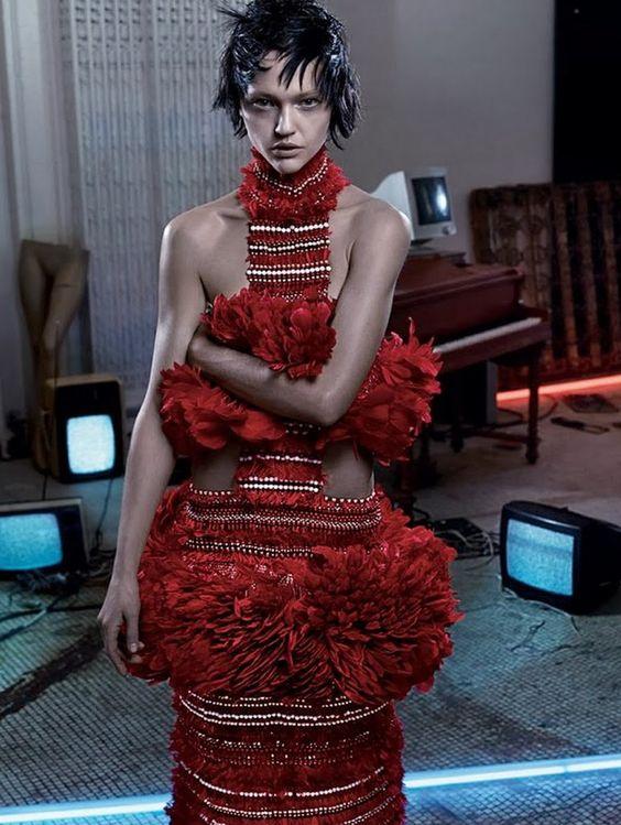 Sasha Pivovarova by Craig McDean for Interview March 2014