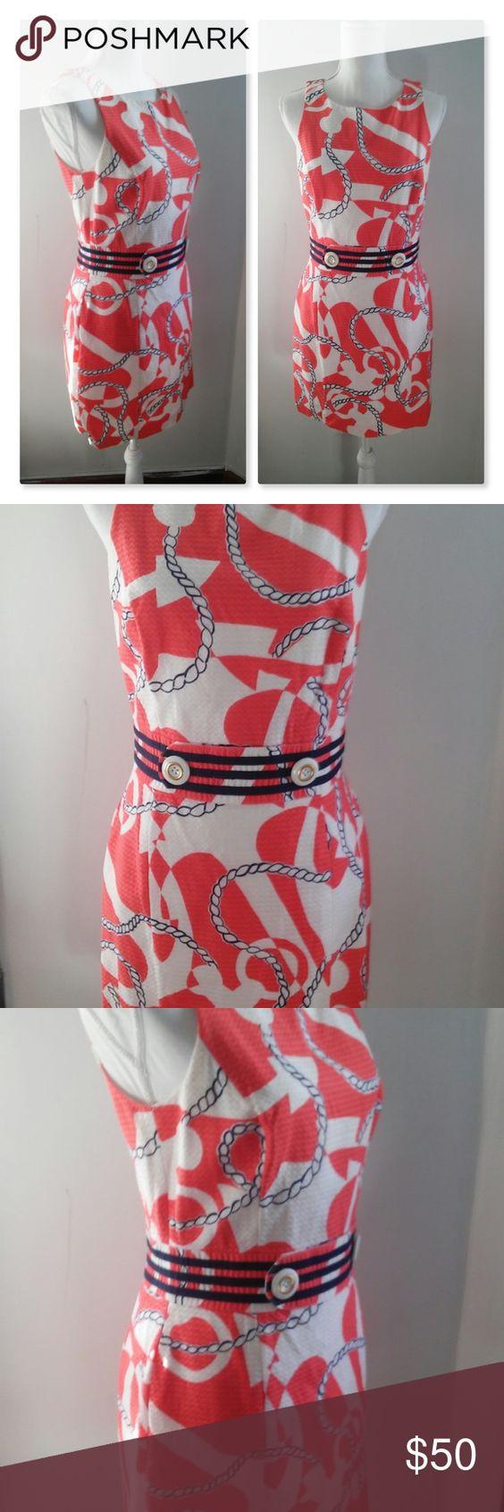 Euc Lilly Pulitzer Booze Cruise Dress Cruise Dress Nautical Dress Lilly Pulitzer