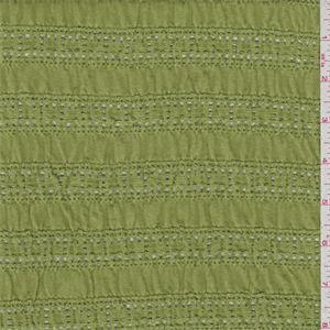 Avocado Green Lace Jersey Knit - 34509