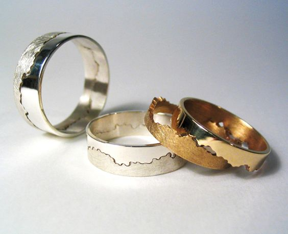 Wedding Ring Design Ideas mens wedding ring ideas 2015 1 The Join Of The Wedding Ring Is Created From A Stretch Of Coastline You Choose Yourself Making Your Ring Unique