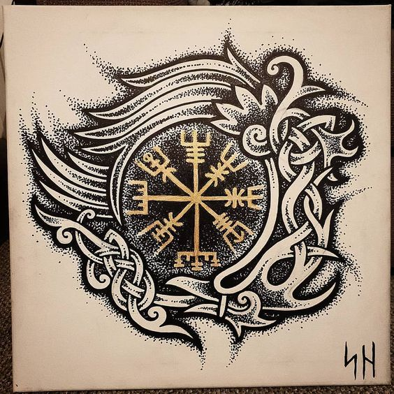 Click Here for discover the meaning of viking tattoos - reposted from - vikingtattooart who Reposted from @shogantattoo @shogantattoo . @shogantattoo . #tattoo #norsetattoo #tattooing #canvas #art #painting #norsetattoos #pagan_tats #raven #Vegvisir #socialdistance #knotwork #dotwork #norse #celtic #jerseyfolk #artistic #Valhalla #Odin #Thor #Frey #fuckouttheway - #regrann