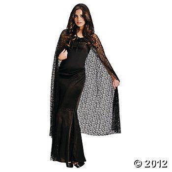 Gothic Net Hooded Cape Adult Women's Costume  #OrientalTrading #HalloweenWishList
