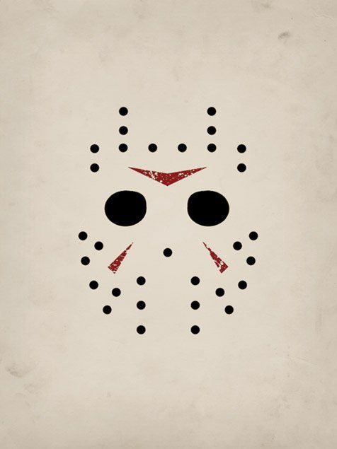 Jason Mask Minimalist Preview Mobile Wallpaper Jason Mask