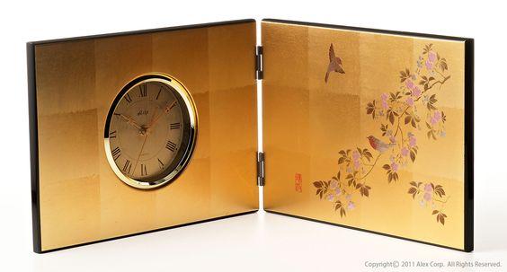 Gold-Leaf Clock