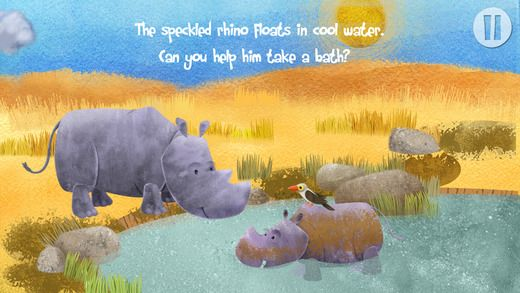 Goodnight Safari introduces your child to animals in a delightful story that you will enjoy using many times during the day. Download KinderTown to learn more and download the app.