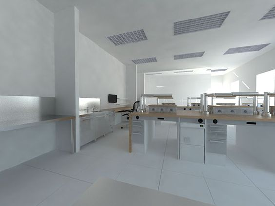 Dental laboratory interior on Behance