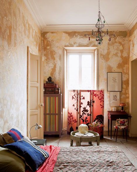 Un apartamento bohemio con color