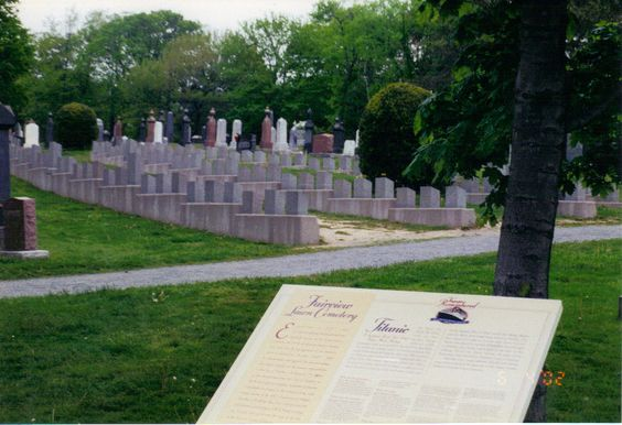 Titanic Graveyard in Halifax, NS. Canada where most of the recovered are buried.