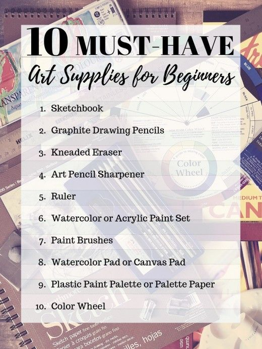 A List Of Must Have Art Supplies For Those Who Want To Start