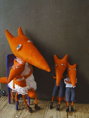 Takiyake dolls - this reminds me of Father Foxes Penny Rhymes