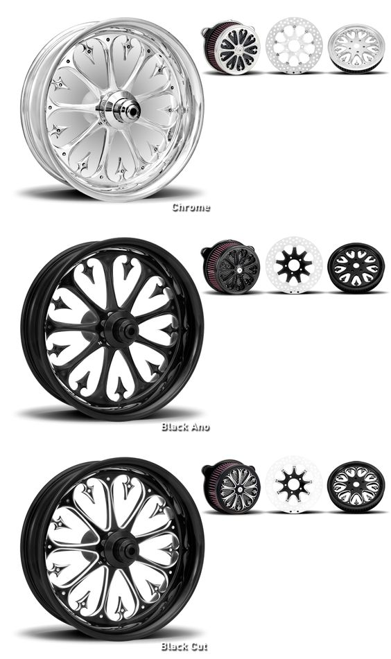 custom motorcycle wheels    xtreme machine stiletto