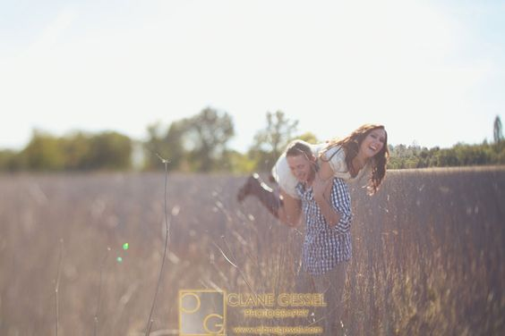 Redding, CA Engagement Photography | Clane Gessel Photography #Fun #Engagement #Photography #Pose  Okay adorable!