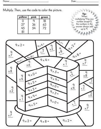 Color By Multiplication Worksheets Math Coloring Worksheets Math Multiplication Math Coloring