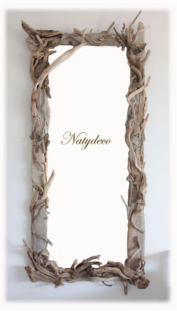 miroir en bois flott natydeco