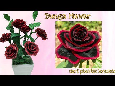 Diy Cara Membuat Bunga Mawar Dari Plastik Kresek How To Make Rose Flower With Plastic Bag Youtube Bunga Mawar Bunga Dahlia
