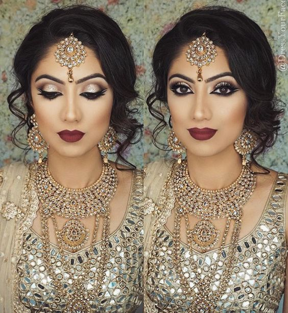 Hindu Bridal Hairstyles 14 Safe Hairdos For The Modern: 17 Best Images About Asian Bridal Makeup Pakistani