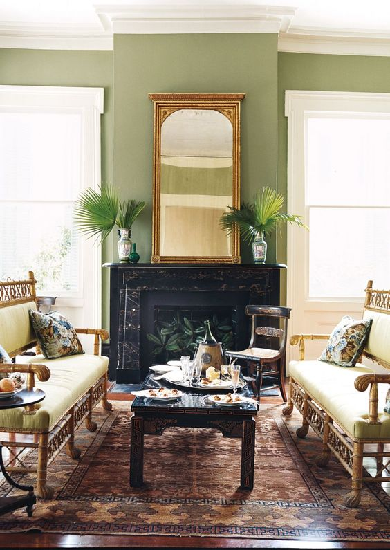 Traditional Living Room | AD DesignFile - Home Decorating Photos | Architectural Digest