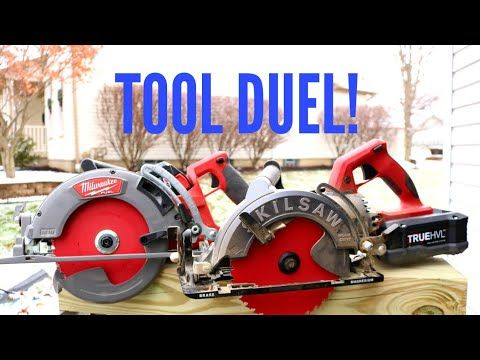 All New Skilsaw Cordless Worm Drive Circular Saw Vs Milwaukee M18 Fuel Rear Handle Circular Saw Youtube Skil Saw Worm Drive Circular Saw Milwaukee M18