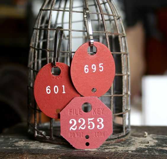 My vintage industrial home in a splash of red by Friedpeas on Etsy
