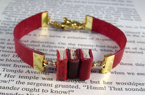 Hey, I found this really awesome Etsy listing at https://www.etsy.com/listing/386999142/miniature-book-bracelet-stack-of-3-mini