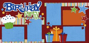 Birthday Party Boy Page Kit