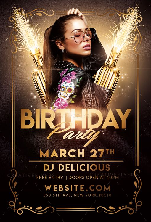 Check Out Elegant Birthday Flyer Psd Templates Creative Flyers Birthday Flyer Photoshop Flyer Photoshop Flyer Template