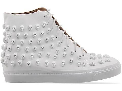 Jeffrey Campbell Skull Sk8r in White White at Solestruck.com
