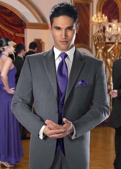 Grey tuxedo tuxedos and steel on pinterest for Wedding dress rental omaha