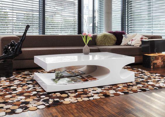 Schön design couchtisch weiß hochglanz Deutsche Deko Pinterest - wohnzimmertisch wei hochglanz