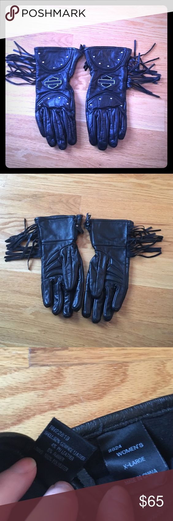 Motorcycle gloves xl - Womens Xl Lined Motorcycle Gloves Super Warm Lined Leather Motorcycle Gloves With Studs And Fringe