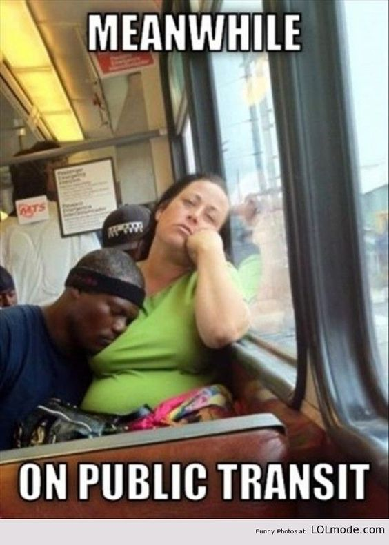 Meanwhile on public transport
