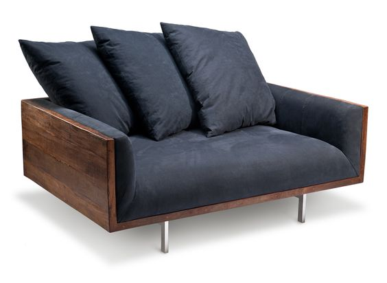 peroba loveseat made from reclaimed shelter half army tents reclaimed brazilian peroba rosa wood designed brazilian wood furniture