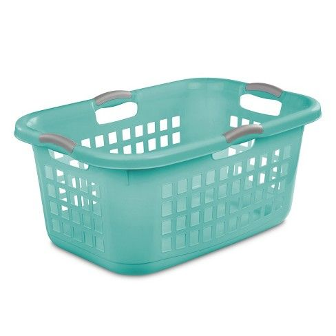 2 Bushel Laundry Basket Aqua With Gray Handles Room Essentials Laundry Basket Plastic Laundry Basket Sterilite