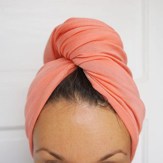 """It's baaaack! Our best selling Hubalou Hair Wrap in """"Petal"""" has made the return and our hair is felling pretty happy about that. The Hubalou Wrap is a beautiful, lightweight and gentle hair towel created to be used in place of terrycloth and microfiber towels. Made of sustainable bamboo fiber, the Hubalou Wrap minimizes heat dry time, prevents breakage and reduces frizz. The Hubalou Wrap is great for all hair types - curls stay together better, thin hair is fuller and thick hair dries with…"""