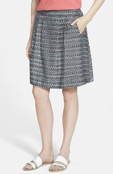 Eileen+Fisher Organic Cotton Pleat Skirt